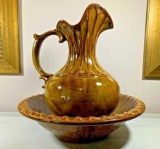 McCoy Pottery Brown Pitcher Basin Bowl #7530 - $125.00