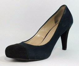 Franco Sarto women's heels classic shoes pump leather suede blue size 9.5M - $22.44