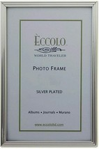 """Eccolo Sterling Silver Plated Wood  8"""" X 10"""" Picture Frame ITALY New in box - $29.69"""
