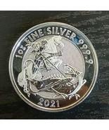 2021 1 oz British Silver Valiant Coin (BU) - $42.00