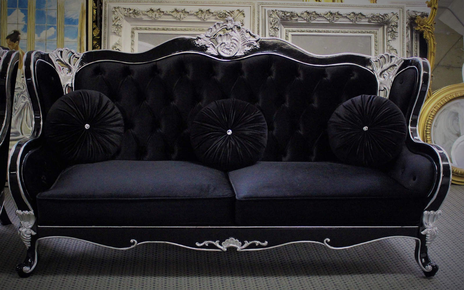 Pleasant Beautiful Black Gothic Versace Style And Similar Items Uwap Interior Chair Design Uwaporg