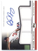 2011 Topps USA Baseball Triple Jersey Autographs Gold #TR-CD Chase DeJong NM-MT  - $30.00