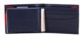 Tommy Hilfiger Men's Premium Leather Double Billfold Passcase Rfid Wallet Navy image 6