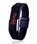 Rubber LED Watch Date Sports Bracelet Digital Wrist Watch - $5.95