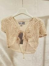 Gioiello Sweater Boleros Shrug Knitwear Girls Size 5 Creme Beige Short S... - $18.53