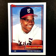 Frank Thomas 1990 Topps Debut Rookie Card #153 MLB HOF Chicago White Sox  - $9.85