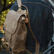 Sale, Handmade Men Backpack, Horse Leather Travel Backpack, Vintage Laptop Backp image 5