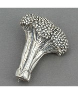 "JH Breakell Handcrafted Sterling Silver Broccoli Pin 1.5"" x 1.25"" 17 grams - $24.95"