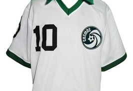 Pele #10 NY Cosmos New Men Soccer Football Jersey White Any Size image 4