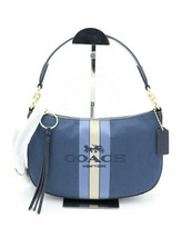 NWT Coach Blue Sutton Crossbody With Horse And Carriage New 69647 - $115.00