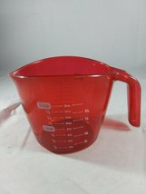 Mainstays Red Plastic 2 Cup/ 500ml Measuring Cup, New - $9.89