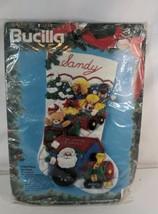 Bucilla Christmas Express felt applique stocking # 83113 sealed unopened 1994 - $46.99