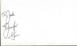 Jennifer Huss Signed Vintage 3x5 Index Card JSA Game of Pleasure - $29.69