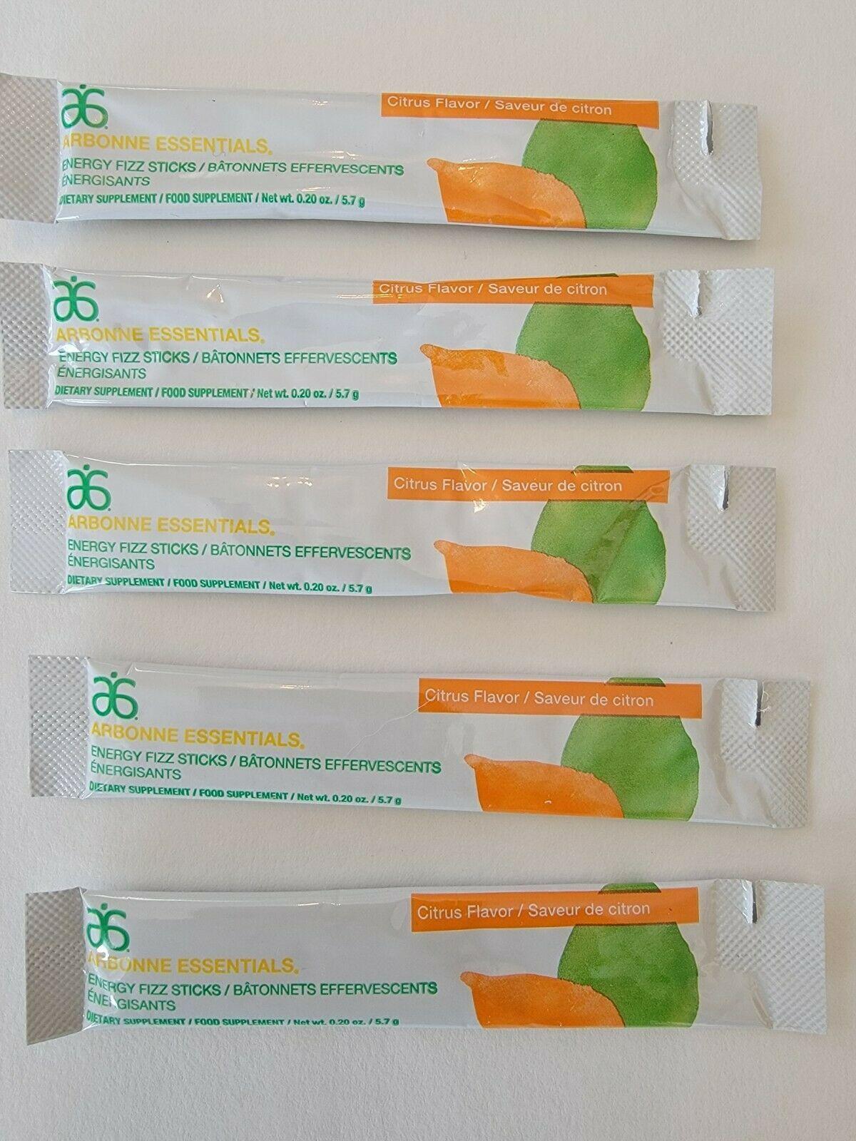 Arbonne Citrus Fizz Sticks . Lot of 5 . Exp 03/2022 . Ships Free