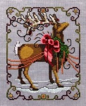 "NC117 ""VIXEN"" XMas Eve Couriers by NORA CORBETT XSTITCH CHART W/ EMBELLI... - $39.59"