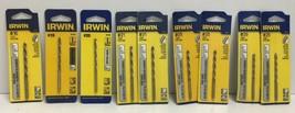 (New) Irwin Wire Gauge #16, #19, #20, #21, #25, #29  Drill Bit Set - $40.58