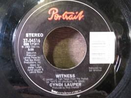 CYNDI LAUPER She Bop / Witness 45 Rpm Vinyl Record - $2.96