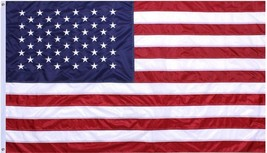 US Flag 3' x 5' Double Stitched Deluxe Quality Large USA American Grommets - $21.99