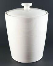 Vtg NOS New 2004 White STARBUCKS Textured Swirl 1lb Coffee Cookie Canist... - $35.99