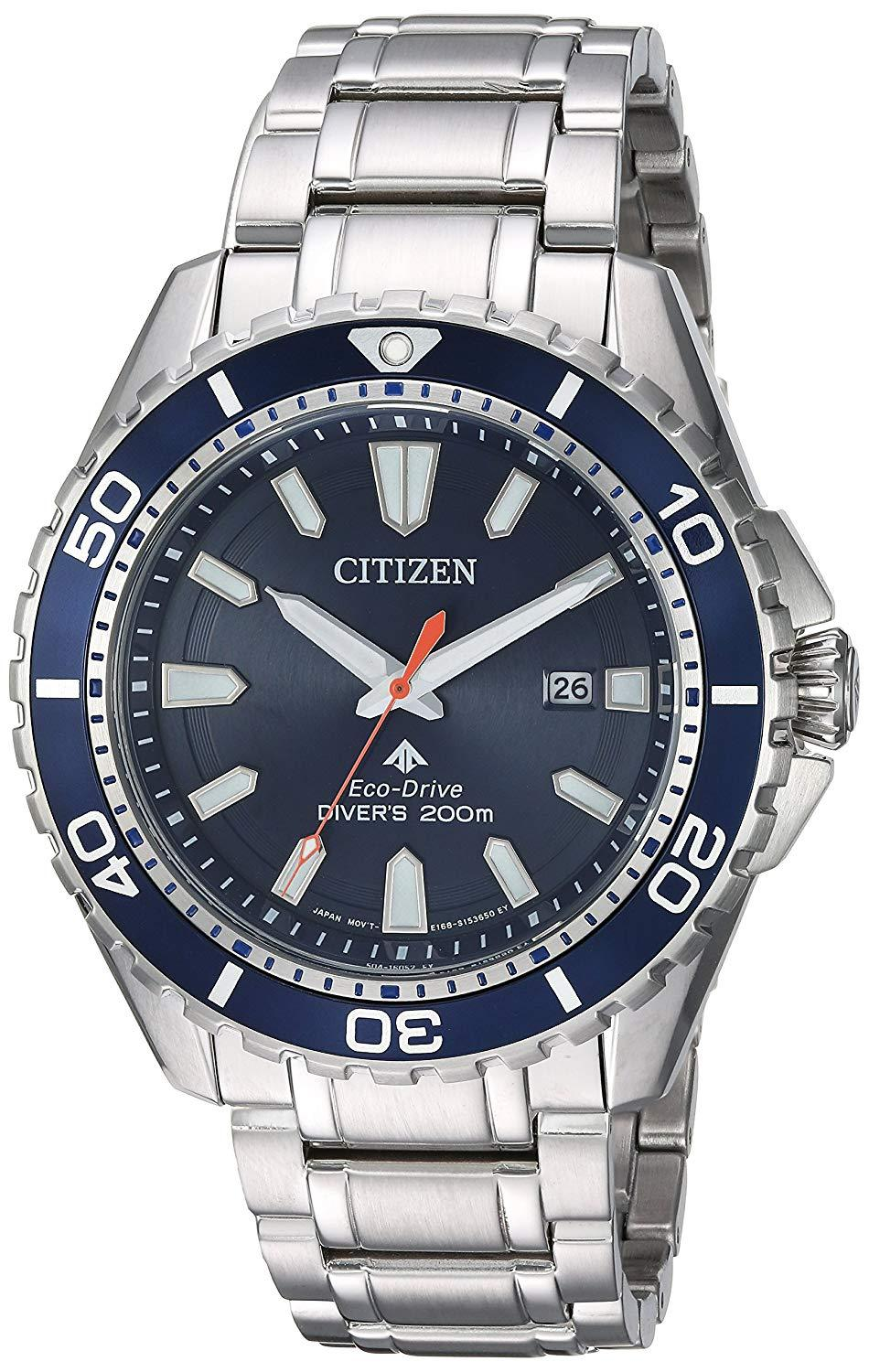 Citizen Men's Eco-Drive Stainless Steel Divers 200 m Watch BN0191-55L