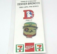 Classic 1993 NFL Football Lapel Hat Pin - Denver Broncos vs Seattle Seah... - $11.87