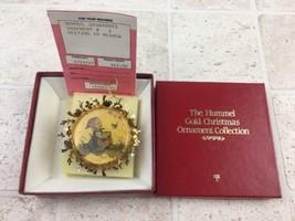 Danbury Mint Hummel Gold Christmas Ornament MEETING IN THE MEADOW Box Vi... - $7.69