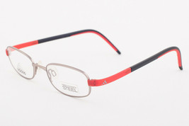 Adidas AD999 40 6052 LiteFit Red Black Silver Eyeglasses AD999 406052 45mm - $68.11