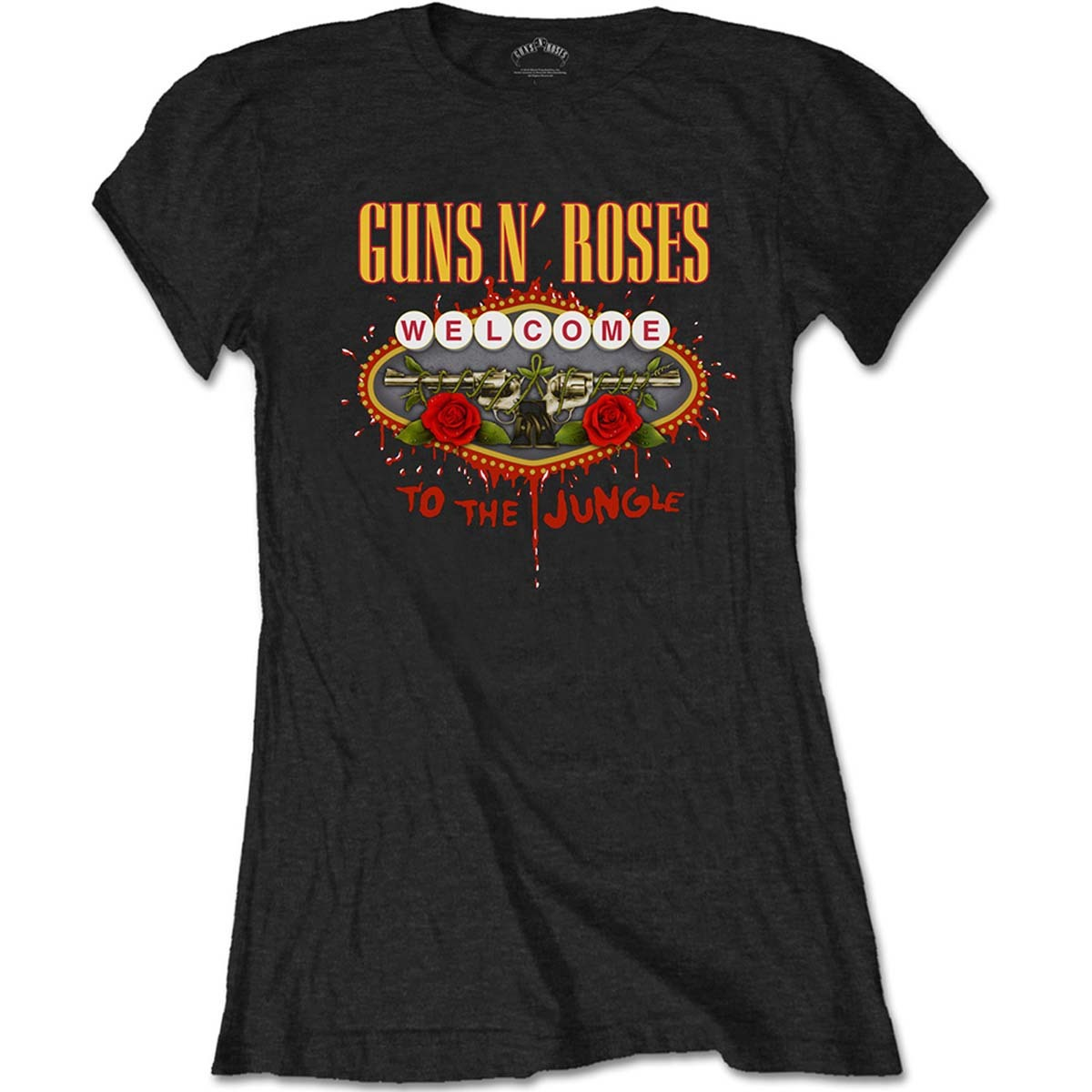 Primary image for Ladies Guns n' Roses Welcome to the Jungle Official Tee T-Shirt Womens Girls