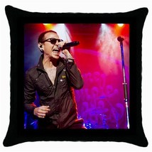 Memorabilia Linkin Park Chester Bennington Throw Pillow Case (Black) 100... - $12.99
