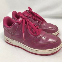 Nike Girls Pink Force 1 Low Athletic Shoes, Kids Size 1 - $26.92