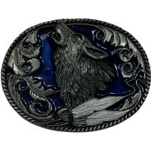 Vintage 1995 Howling Wolf Siskiyou Silver-tone Belt Buckle - $19.99
