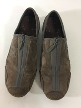 MERRELL Brown LEATHER Suede Women's ZIP Up Shoes J76048 Sz 10 - $34.65