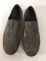 MERRELL Brown LEATHER Suede Women's ZIP Up Shoes J76048 Sz 10 - $34.65