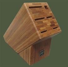 Wusthof 6 Slot Bamboo Kitchen Knife Block - £19.38 GBP