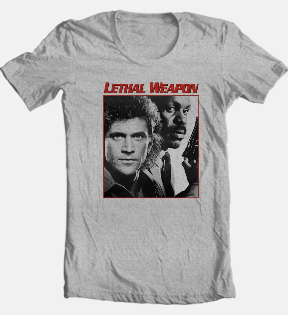 Lethal weapon heather grey t shirt retro movie graphic tees store buy shop online