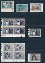 US Federal Duck Stamps RW37, RW47, RW52, RW56-RW63 Plate Blocks Bird Hun... - $193.50