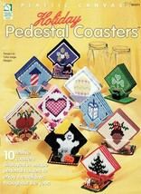 Holiday Pedestal Coasters in Plastic Canvas Valentine's Easter Christmas... - $5.95