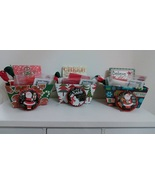 CLEARANCE EXCLUSIVE Christmas Holiday Basket Grab Bags assorted cross st... - $12.00