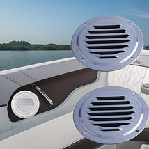 "Bay-sun 5"" Stainless Steel Round Louvered Vent Marine Boat Vent 126mm Ca... - $15.69"