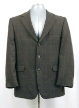 STAFFORD Executive Brown Three Button Sport Coat Suit Mens 42R - $32.02