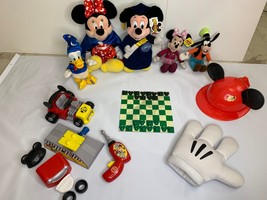 Huge Lot Disney Mickey Minnie Mouse Donald Duck Goofy Plushes Toys Checkers Hand - $39.59