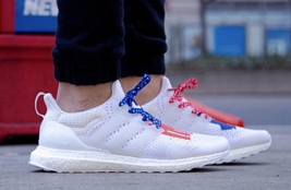 2019 Adidas ULTRA BOOST Men's Running Shoes White/Blue/Red - €128,96 EUR+