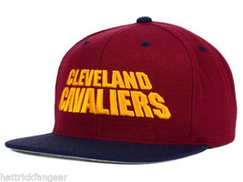 Cleveland Cavaliers Mitchell & Ness NY76Z Flat Brim Snapback Basketball Cap Hat - $21.80