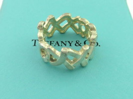Authentic TIFFANY & CO Sterling Silver XO Hugs and Kisses Ring Size 5.5 - $94.58