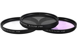 37Mm 3Pc Filter Kit Uv Fld, Pl For Olympus Pen E-Pm1 E-Pm2 E-P1 E-P2 E-P3 - $27.99