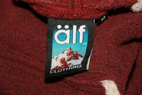 Alf Clothing Burgandy Pull Over Hoodie Sz M  Blind Dog Park City Embroidered image 7