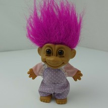 "Vintage Russ Troll Doll 5"" Toy Purple Hair - $12.86"
