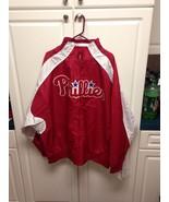 PHILADELPHIA PHILLIES MLB MAJESTIC FULL ZIP JAC... - $39.99