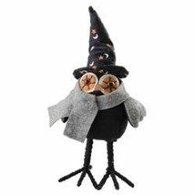 """farmhouse primitive country rustic fabric Halloween WITCHY OWL 11"""" doll ... - $32.95"""