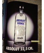 Absolut 23,5 Cm Ad GQ Espana Magazine July/August 2001 Mint In Tact - $13.99